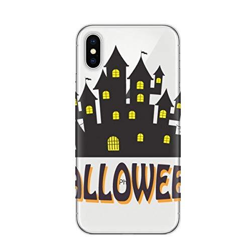 DIYthinker Happy Halloween Horror Castle Apple iPhone X Telefon-Kasten Flexible TPU Soft Slim Transparent Abdeckung Geschenk