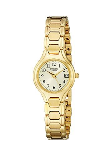 Citizen EU2252-56P - Reloj de cuarzo para mujer, acero inoxidable, con fecha