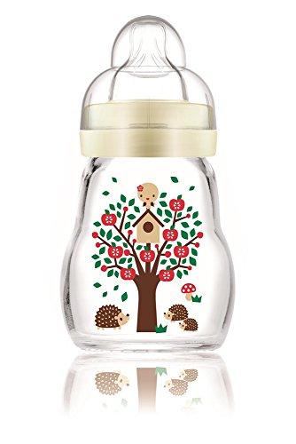MAM 67037400 - Feel Good Glass Bottle 170 ml Glas Flasche farblich sortiert
