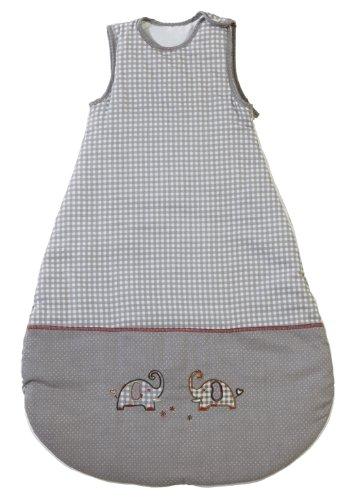 roba roba Schlafsack, 110 cm, Kinderschlafsack ganzjahres/ganzjährig, aus atmungsaktiver Baumwolle, Kleinkindschlafsack unisex, Kollektion 'Jumbotwins'