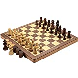 LIU WU FENG Chess Set, High-Grade Solid Wood, Folding Chessboard for Adults and Children, Portable Chess