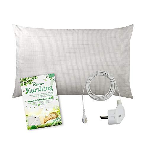 Erdungs-Bettlaken mit 4,6 m Kordel für Erdung, leitfähige Matte für besseren Schlaf, natürliches Wellness und gesunde Erdenergie, 50*76cm