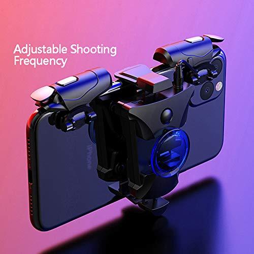 DZSF Control para Juegos Móviles Gamepad Joystick Aleación De Smartphone por I Botón De Teléfono Android PUBG Gamepad Tirador Mango del Gatillo De Control