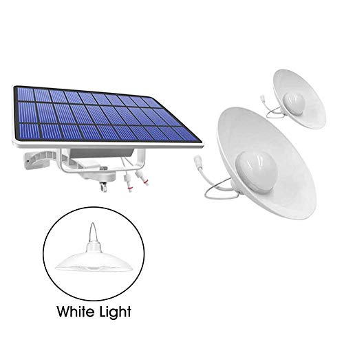 OSISTER7 Solar Lights, Outdoor Solar Lights,IP65 Waterproof Cords Remote Control Led Shed Light Pendant Light with Adjustable Solar Panel for Home Yard Garden Decorate-Warm White