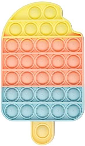 NUEVAS IDEAS Juguete sensorial Pop Burbujas   Antiestrés   Motricidad Fina   Lavable  Juego Entretenimiento  Relajante (Helado)