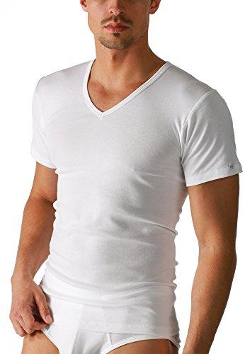 Mey Basics Serie Noblesse Herren Shirts 1/2 Arm Weiß 5