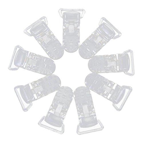 【ノーブランド品】汎用クリップ バッジ 10個入り T字型 樹脂