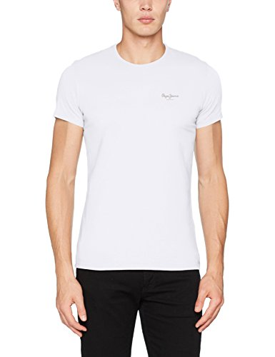 Pepe Jeans Original Basic S/S PM503835 Camiseta, Blanco (White 800), X-Small para Hombre