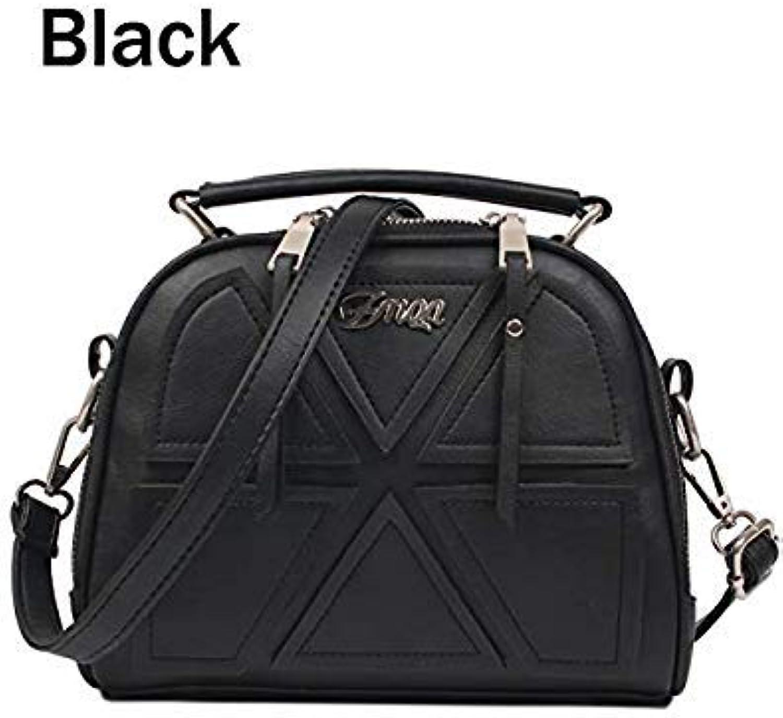 Bloomerang ZMQN Women Messenger Bags Famous Brand 2018 Vintage Retro Women Crossbody Bag Small PU Leather Handbags for Women Splicing A523 color Black Size About 22cm 11cm 18cm