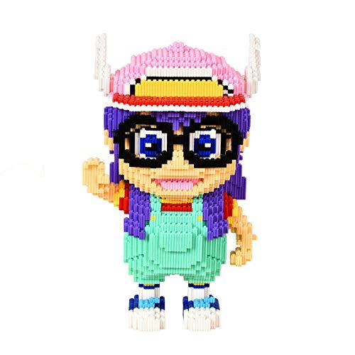 QSSQ Big Size Nette Anime-Mini Bauklotz, Arale Figuren Modell Spielzeug Mädchen-Geschenk (7288 PCS)