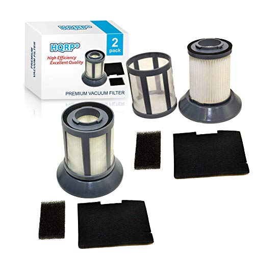 HQRP Filter Set 2-Pack compatible with Bissel Easy-Vac Compact 40N8 35F3 59G4, CleanView Pet Cylinder 36T1 Bagless Canister Vacuum Cleaner