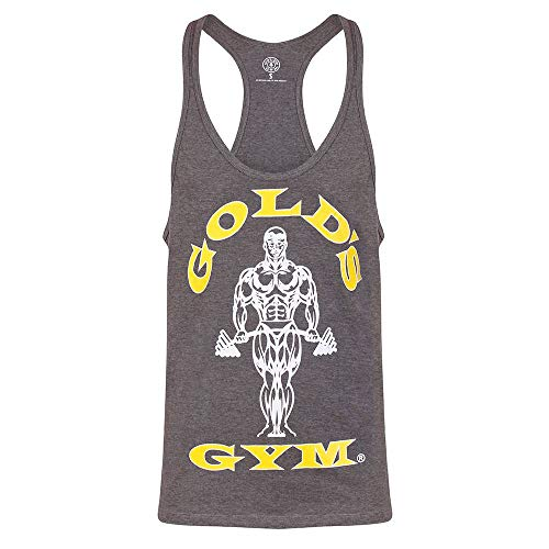 Gold's Gym Muscle Joe Premium Stringer Vest Camiseta sin Mangas, Gris (Grey Marl), Small para Hombre