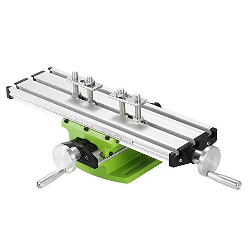 GMKD Mini Milling Machine Work Table, Portable Compound Bench with X-Y 2 Axis Adjustive, Multifunction Drilling Slide Table for Bench Drill, Electric Drill Stand