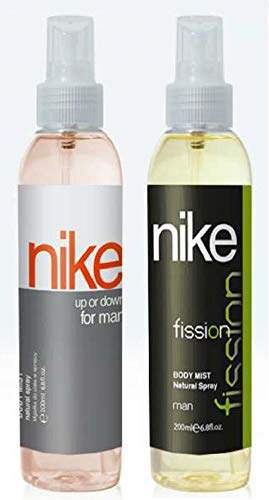 Nike Up Down & Fission man Bodymist Spray - Pack Of 2 (200ml Each)