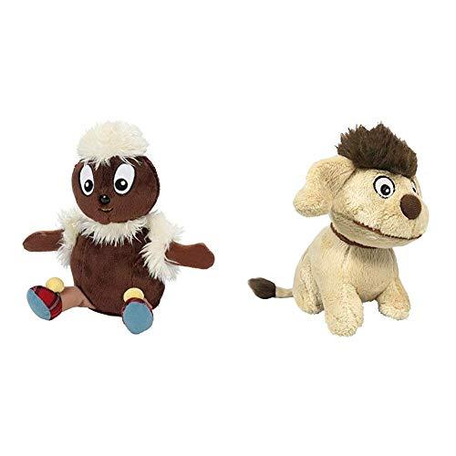 Heunec 649477 - Sandmann und Freunde, Beanie, Pittiplatsch 15cm & 649675 - Sandmann und Freunde, Beanie, Hund Moppi 15cm