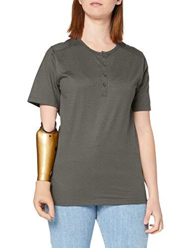 Trigema Damen 537204 T-Shirt, Khaki-Melange, L