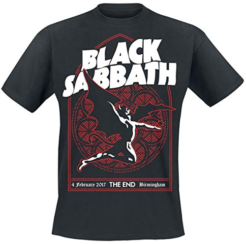 Black Sabbath The End Church Window Männer T-Shirt schwarz M 100% Baumwolle Band-Merch, Bands
