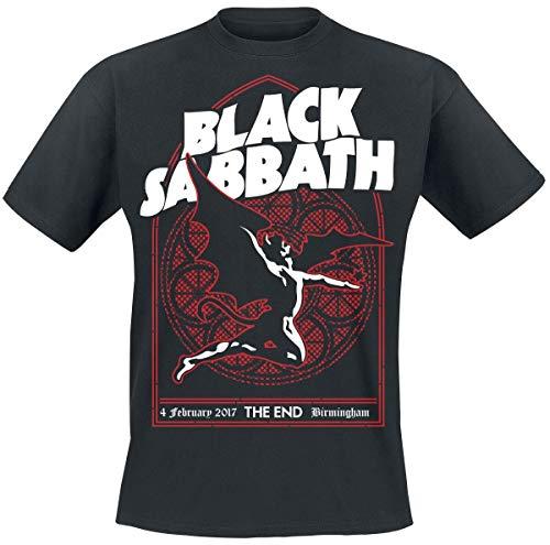 Black Sabbath The End Church Window Männer T-Shirt schwarz XL 100% Baumwolle Band-Merch, Bands
