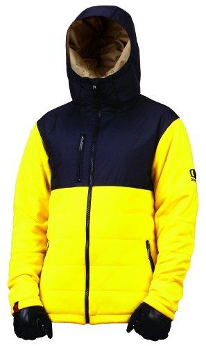Bonfire Herren Jacke Steep Fleece, black/lemon, XL