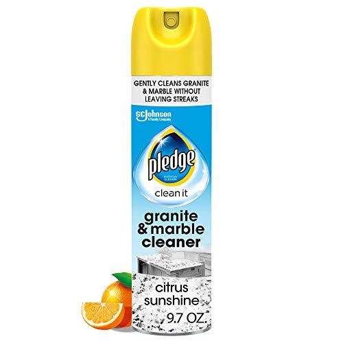 Pledge Granite and Marble Cleaner Aerosol Spray, Citrus Sunshine, 9.7 Ounce