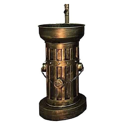 ZTGL Muebles de baño con Lavabo De pie Mueble Lavabo Aseo con Pedestal, Estilo Industrial Vanidad de Arte de Hierro,Bronce
