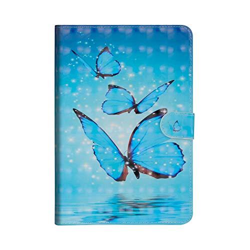 Cover Per Samsung Galaxy Tab S2 9.7 pollice T810N/T815N/T813N/T819N, Sunrive Custodia Case con supporto di stand e in pelle artificiale per Portafoglio Flip Chiusura Magnetica Protettiva(tre farfalle)