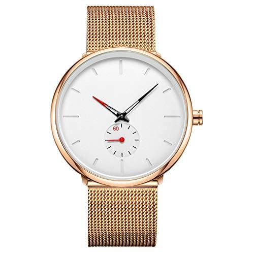 HYJBGGH Armbanduhren Herrenuhr Mode Lässig, Business Kleid Quarzuhr, Edelstahl-Mesh-Armband,Herrenarmbanduhr, Herren Armbanduhr, Herren Uhr,Herren Uhren,Quarz Armbanduhren Männer