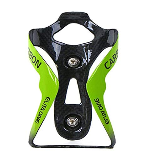 ESEN SP Portabidón de Fibra de Carbono, Soporte para Bicicleta Ligero y Resistente, fácil y rápido de Instalar, Ideal para Carretera, montaña (Brillante, Verde)