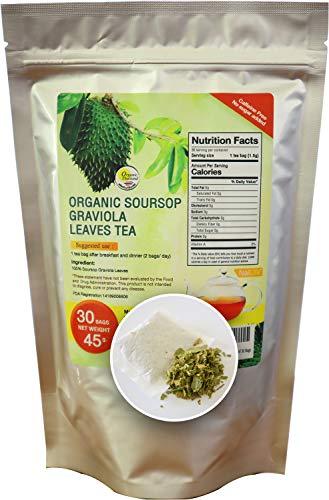 Organic Soursop Graviola Leaves Tea Pack of 30 Bags
