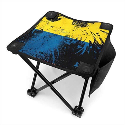 End Nazi Taburete de Camping portátil con Bandera de pájaro de Colombia, sillas Plegables para Exteriores, sillas Plegables para Acampar, Pesca, Senderismo