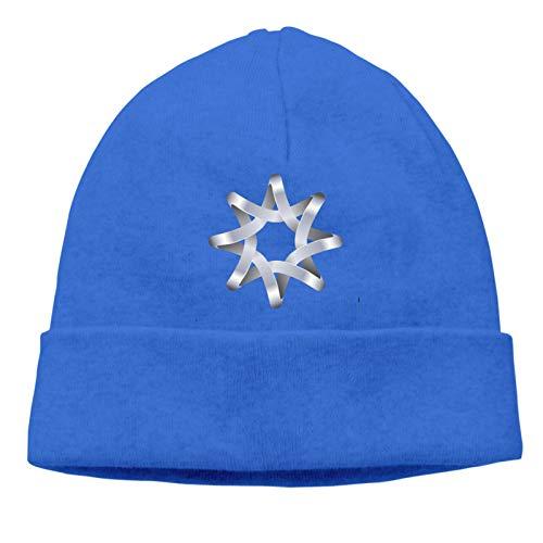 Moda Unisex Ocho Punta Estrella Logo Diseño Plantilla Invierno Cuchillado Cubierta Cap...