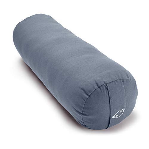 Blue Dove Yoga Bolster hecho de algodón orgánico certificado GOTS (azul claro)