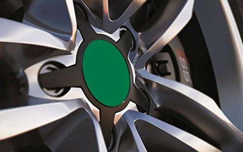 Standard ajustement universel 40 mm Centre de roue en alliage Cap badges, Racing Vert