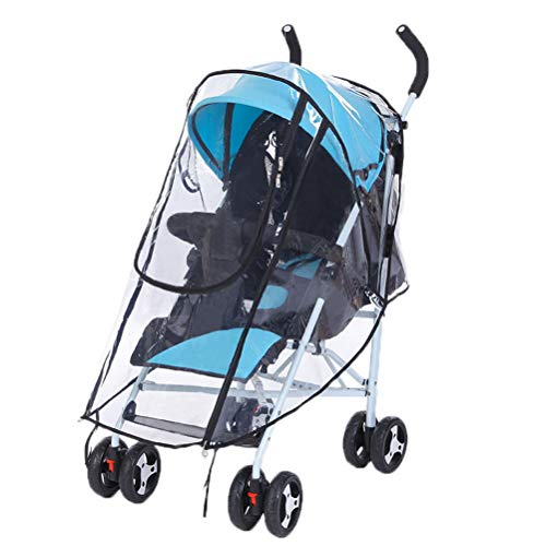 nuosen Universal Baby Stroller Rain Cover, Baby Buggy Rain Cover For Pushchair Pram with Zip Wind Dust Shield
