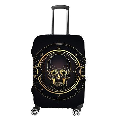 Ruchen - Funda protectora para maleta, diseño de calavera y geometría sagrada,...