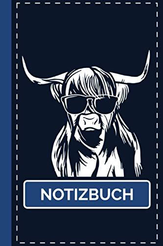 Notizbuch: Schottisches Hochlandrind Highland Cattle Rinder Notizheft [Liniert] 120 Seiten I Weißes Papier I A5 Format