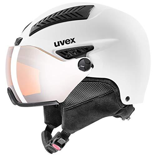 uvex Unisex– Erwachsene, hlmt 600 visor Skihelm, white mat, 59-61 cm