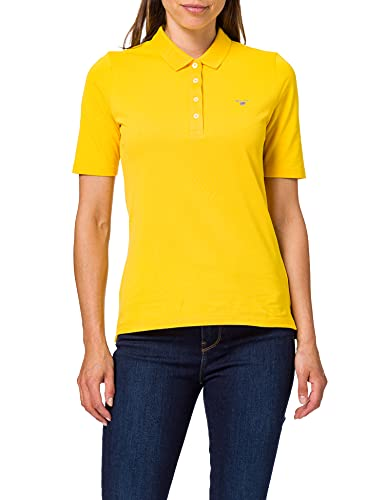 GANT Damen ORIGINAL LSS Pique Polohemd, SOLAR Power Yellow, S