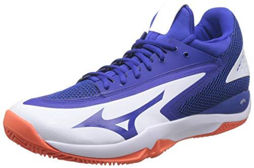 Mizuno Wave Impulse Cc tennisschoenen voor heren, wit (wit/reflex blauw/Nasturtium 27), 44.5 EU
