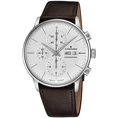 Junghans Meister Herren-Armbanduhr 40.7mm Armband Leder Automatik 027/4120.01