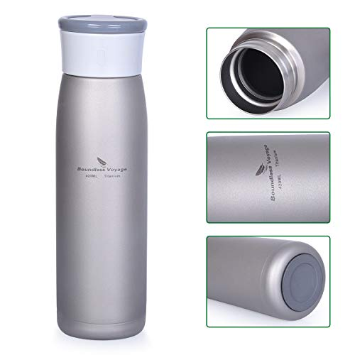 iBasingo Ti15113I Titanium thermoskan waterfles lekvrije isolatiefles outdoor camping brede mond sport drinkfles koffie thee isolatie koud drankje Ti15113I
