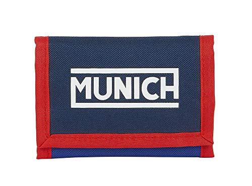 Safta Cabecera de Munich, Accesorio de Viaje-Billetera Unisex niños, Azul Oscuro/Azul, 125xx95 mm