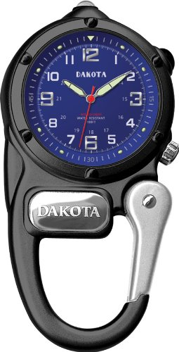 Dakota Black Mini Clip Microlight Watch
