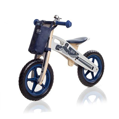 KinderKraft Niños Fuerza Runner Bicicleta de Madera sin Pedales
