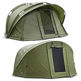Lucx® Bengal Tente de pêche + Couverture 1 Personne Bivvy + Skin d'hiver pour 1 Personne