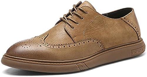 LEDLFIE Bullock Geschnitzte Herrenschuhe Tide Schuhe Koreanische Britische Schuhe Schuhe Schuhe Jugend Männer Casual  Incentive-Promotionals