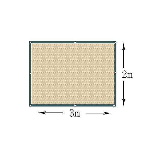 Voiles d'ombrage Wang Écran de Tissu de Tissu d'abri d'auvent d'auvent de khady carré d'ombre de Sun - (Taille PERSONNALISÉE Disponible) Plusieurs Tailles (Couleur : Kaki, Taille : 3×2M)