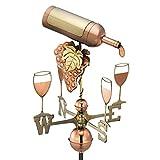 FAPROL Bottiglia di Vino Banderuola Decorazione da Giardino Banderuola Decorazione da Patio Tetto in Ferro Battuto in Metallo Banderuola Metallica