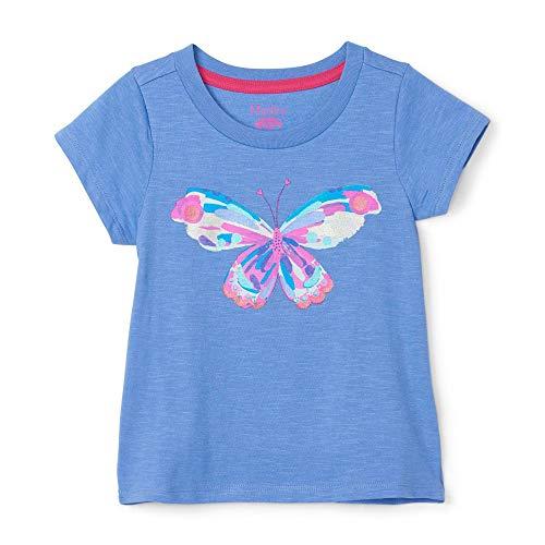 Hatley Mädchen Short Sleeve T-Shirt, Blau (Soaring Butterfly 400), 8 Jahre