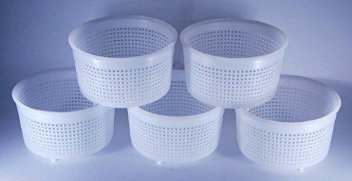 5 x Forma plastica per formaggio 9x5.2cm - 0.35kg – Caciotta Forme e fuscelle | Forme formaggio